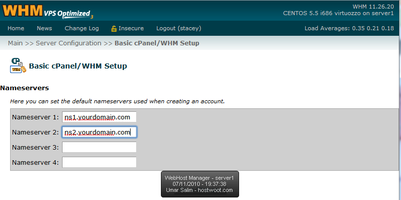 Thumbnail: Creating custom nameservers with WHM and NameCheap